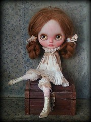 Her name is Imogen (shepuppy) Tags: old alpaca outfit doll boots antique trunk blythe custom granny scola reroot squeakymonkey