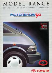 Toyota Range 1990 Birmingham Motorshow (celicacity) Tags: st birmingham toyota brochure range 162 1990 motorshow ee90 ae92 165 sw20 lj70 ma70 hdj80 st171 sxv10 ep80 at151 tcr11 ae95 vcv10
