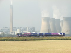 Northern Rail Class 158 Passing Eggbrough Power Station (Gary Chatterton 3 million Views Thank You All) Tags: station flickr power rail railway trains exploreinterestingness railways locomotives northernrail class158 eggbrough