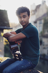 Alex Fauconnet (Anas Nannini) Tags: city light portrait music sun man 50mm golden nice play guitar young hour singer sincerity nikond300s