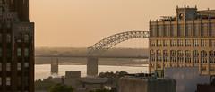 Mississippi River from Peabody Memphis 2014 Aug 22 1490 (JM L) Tags: memphis mississippiriver newbridge tennnessee i40 hernandodesoto adobecameraraw peabodyhotel memphisbusinessjournal