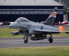 Typhoon (Bernie Condon) Tags: plane flying fighter aircraft aviation military jet airshow eurofighter strike bae bomber farnborough typhoon raf warplane afterburner reheat fi14
