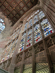 Great Malvern Priory - Great East Window (pefkosmad) Tags: church window interior stainedglass medieval malvern worcestershire chancel priory greatmalvern eastwindow greatmalvernpriory