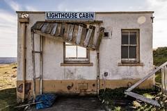 Lighthouse Cabin (George Peck) Tags: ocean sea cliff lighthouse colour building skye broken canon scotland highlands cabin hut shanty desolate derelict complex lightroom vibrance 60d