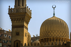 Mosque in Cairo (Sound Quality) Tags: africa city brick yellow stone architecture canon design african muslim religion egypt culture mosque cairo dome egyptian islamic minarete canon50d spirit7628yahoocom