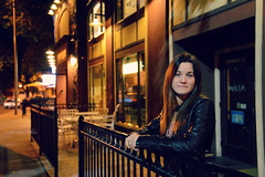 Portrait - Stephanie (stories unwritten) Tags: camera city portrait woman color senior girl photography evening nikon downtown pretty bokeh vibrant nightlife dslr photograpy d600 nikond600