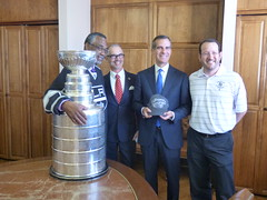 Stanley Cup Travels to Los Angeles City Hall
