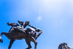 The Spearman (moony: stupidly dreamy) Tags: sky sculpture chicago illinois cityscape tourist grantpark spearman