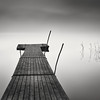 Sanbashi, part III (Vesa Pihanurmi) Tags: longexposure blackandwhite mist lake reed water monochrome lines fog espoo landscape sticks jetty calm le minimalism waterscape counterbalance