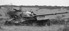 Cold Warrior, Imber (Hammerhead27) Tags: old metal trash army junk gun tank military barrel tracks cannon target vehicle hulk wreck range armour turret chieftain imber