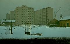 1975_Csengettyű_köz (emzepe) Tags: old winter snow photo construction hungary crane picture photograph 1975 utca kép ungarn régi képek kapu érdekes ház hongrie hó daru telek tél új építkezés üres fotó lakótelep bérház kerítés hódmezővásárhely köz vásárhely fénykép lakóház tízemeletes vásárhelyi oldalkosár szkennelt történelmi csengettyű hódmezővásárhelyi