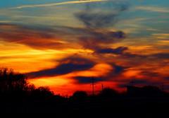 Another brilliant Alberta sunset (peggyhr) Tags: blue trees sunset red sky orange white canada black yellow clouds grey edmonton purple silhouettes alberta mauve 25faves peggyhr dsc00729d