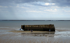 Beach at Arromanches (HarryKidd) Tags: france army ww2 normandy invasion