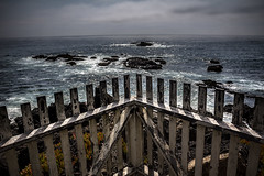 View Of The Pacific (Abel AP) Tags: fence water ocean coast pigeonpoint california usa northerncalifornia outdoor