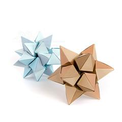 Rock Crystal (_Ekaterina) Tags: blue brown origami modularorigami kusudama unitorigami lukasheva ekaterinalukasheva