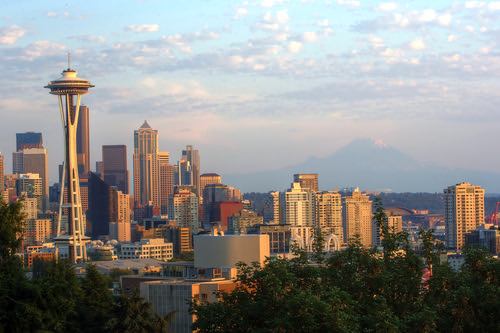 Seattle Skyline by Maëlick, on Flickr