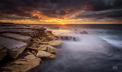 Sunny side up (Mike Hankey.) Tags: seascape sunrise focus published maroubra mahonpool