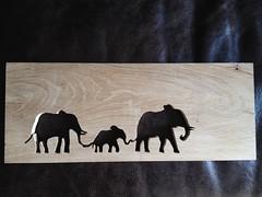 Scroll saw elephant silhouette