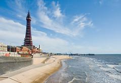 Blackpool Tower and Sea Defences (SMC1977) Tags: sea coast seaside nikond70 seawall blackpool blackpooltower seadefences