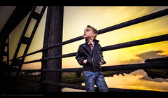 Outtake (Sylvain_Latouche) Tags: bridge sunset portrait ambientlight alix sylvainlatouche