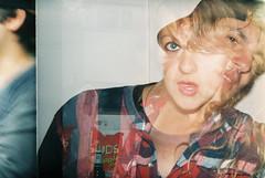 Sa/dy (johnnydurham) Tags: party film sarah 35mm holga exposure double analogue cody holga135