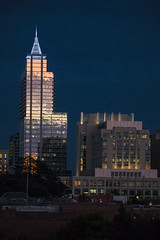 Raleigh after sunset (Simply Photos (Steve Coad)) Tags: moon 1 nikon downtown wells raleigh full fargo v2 pnc