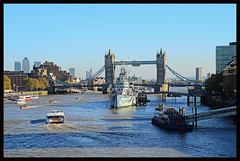 Thames View. (curly42) Tags: bridge london towerbridge river view hmsbelfast riverthames waterway