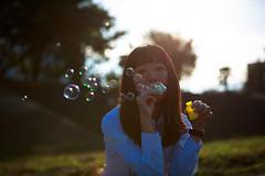 2014-10-30 Soap Bubble Girl (kuma_photography) Tags: portrait woman girl japan japanese soap bubble soapbubble