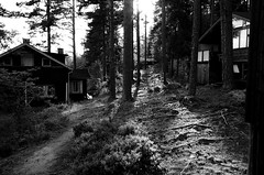 Sweden 2014 (SS) Tags: trees light summer house holiday monochrome backlight composition photography evening mood pentax sweden perspective k5 2014 ss