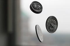 Falling Change (brettkbowers) Tags: motion money macro still coins