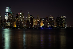 Lower Manhattan before dawn (Lojones13) Tags: city newyork night canon lights manhattan hudsonriver lower predawn eoskissx3