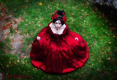 Red petal (Azadeh Brown) Tags: fairytale princess goth medieval tudor queen vogue fantasy masquerade gothgirl azadeh 18thcentury darkart rosered gothchick newromantic gothbride gothwedding darkbeauty darkfairytale gothicqueen azacdesigns azadehbrown