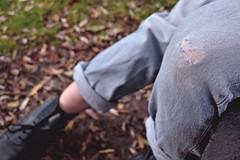 autumn (charliiiiiii) Tags: autumn legs ripped jeans doc levis martens 501s