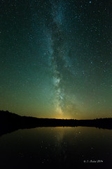 Milky Way Over Pete's Lake (2014-10-11 7923) (bechtelsf) Tags: reflection nikon michigan nightsky upperpeninsula milkyway d610 peteslake