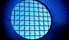 Dome at the new Fulton Street station in lower Manhattan (terryballard) Tags: