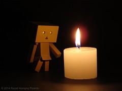 Candle (Rezso Kempny) Tags: light candle darkness kaiyodo yotsuba danbo revoltech jfigure danboard