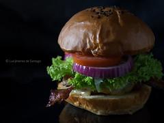 My cheeseburger. (Chef Luis Jimnez) Tags: food tasty olympus cheeseburger hamburger hamburguesa omd foodie