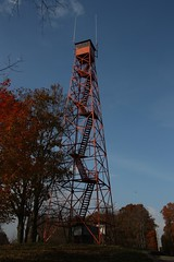 Mohican Lookout Tower sits in the Mohican Memorial State Park and is well maintained. (bkraai2003) Tags: ffla forest firelookout firetower firedetection outdoors wilderness