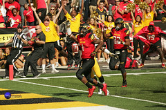 Terps Stefon Diggs runs into the end zone for a touchdown. (Terry Sosnowich Photography (3 million views)) Tags: football big maryland run iowa homecoming ten touchdown hawkeyes terps td terrapins specialk b1g stefondiggs marcusleak