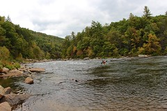 Kayak sail on Youghiogheny river (daveynin) Tags: statepark forest river kayak
