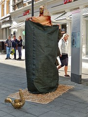 Egyptian Busker in a Plastic Bag (mikecogh) Tags: costume plasticbag egyptian busker konstanz