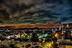 Noches ventosas - Windy nights (celta4) Tags: city argentina clouds buildings edificios buenosaires nightshot nubes nocturna cuidad