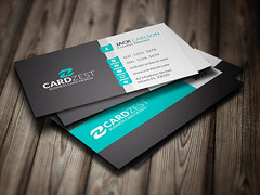 Stylish Minty Green Corporate Business Card Template (Meng Loong) Tags: green modern photoshop corporate teal creative free business businesscards card download psd businesscarddesign businesscardtemplate
