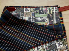 MacLately tartan to the white line