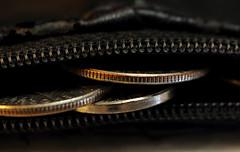 coin purse (*Millie*) Tags: coins purse coin zipper thespaceinbetween macromondays macro black ef100mmf28lmacroisusm canoneosrebelt6i indoor tabletopphotography stilllife