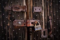 nail-em-and-jail-em (hutchphotography2020) Tags: nails door rottenwood rust locks latch nikon hutchphotography