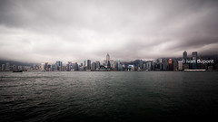 Hong Kong Bay, SAR of China (monsieur I) Tags: asia abroad asian city cityscape clouds cloudy density faraway hongkong hongkongbay hongkongisland huge monsieuri skyscrapers travel traveler water world