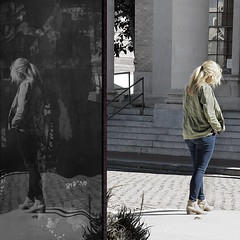 manufactured reflections. (Photomaginarium) Tags: pointandshoot streetphotography candid manipulation reality manyworldstheory quantummechanics decisions optimism chooseoptimism hardchoices toughtimes