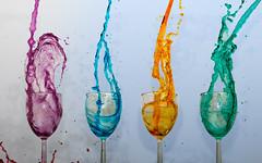 Splash (danielledufour430) Tags: splash drip water liquid freezeframe sonya6000 colorful vibrant explosion blast wineglass whitebackground artistic creative