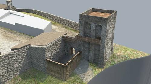 ricostruzione virtuale castello dicontignano 05